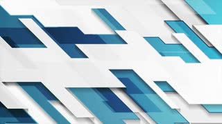 Blue and grey hi-tech corporate motion design. Seamless loop. Video animation Ultra HD 4K 3840x2160