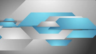 Blue and grey tech corporate background video animation. Seamless looping. Shape motion design Ultra HD 4K 3840x2160