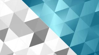Blue and grey tech polygonal abstract motion design. Seamless loop. Low poly video animation Ultra HD 4K 3840x2160