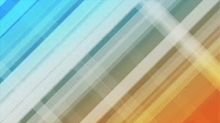 Blue and orange diagonal stripes abstract motion background design. Seamless loop. Video animation Ultra HD 4K 3840x2160