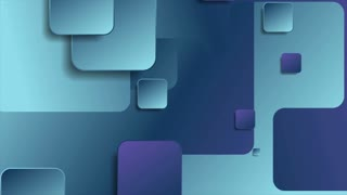 Blue and violet geometric squares abstract motion design. Seamless looping. Video animation Ultra HD 4K 3840x2160