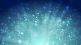 Blue shiny sparkling motion graphic design with stars. Video animation Ultra HD 4K 3840x2160