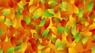 Bright autumn leaves abstract video animation. Seamless looping. Video animation Ultra HD 4K 3840x2160
