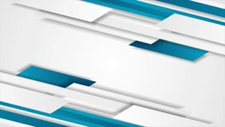 Bright blue and grey tech geometric abstract motion design. Seamless loop. Video animation Ultra HD 4K 3840x2160
