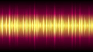 Bright glowing tech waveform equalizer video animation. Futuristic music motion design Ultra HD 4K 3840x2160