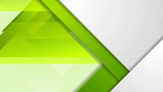 Bright green tech geometric triangles abstract motion graphic design. Seamless looping. Video animation Ultra HD 4K 3840x2160