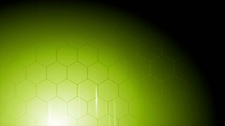 Bright green technology motion background with world map and hexagons. Video animation Ultra HD 4K 3840x2160