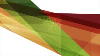 Bright orange and green tech abstract stripes motion graphic design. Seamless loop. Video animation Ultra HD 4K 3840x2160