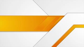 Bright orange geometric corporate motion background. Video animation Ultra HD 4K 3840x2160