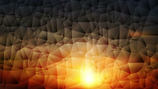 Colorful abstract geometric low poly motion background. Video animation Ultra HD 4K 3840x2160