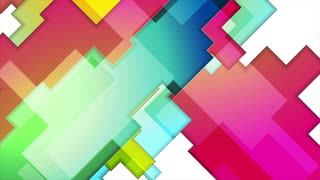 Colorful abstract geometry background motion design. Seamless loop. Video animation Ultra HD 4K 3840x2160