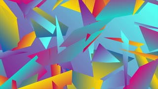 Colorful abstract low poly splinters tech motion design. Seamless looping. Video animation Ultra HD 4K 3840x2160