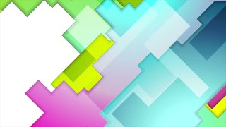 Colorful abstract tech geometry background motion design. Seamless loop. Video animation Ultra HD 4K 3840x2160
