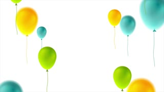 Colorful balloons happy birthday abstract motion graphic design. Seamless looping. Video animation Ultra HD 4K 3840x2160