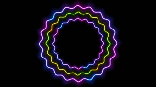 Colorful glowing neon wavy circles abstract motion design. Seamless loop. Video animation Ultra HD 4K 3840x2160