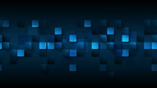 Dark blue abstract squares motion design. Video animation Ultra HD 4K 3840x2160