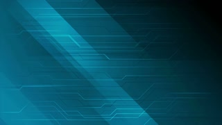 Dark blue abstract technology circuit board motion background. Seamless loop. Video animation Ultra HD 4K 3840x2160