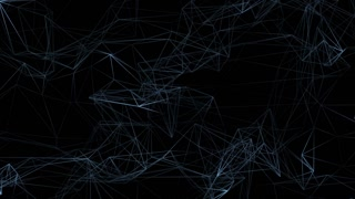 Dark blue abstract technology polygonal motion design. Video animation Ultra HD 4K 3840x2160