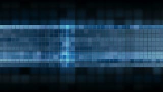Dark blue pixelated squares mosaic web animated banner design. Seamless looping tech video clip Ultra HD 4K 3840x2160