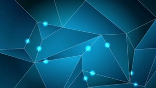 Dark blue tech abstract polygonal motion design with shiny lights. Video animation Ultra HD 4K 3840x2160
