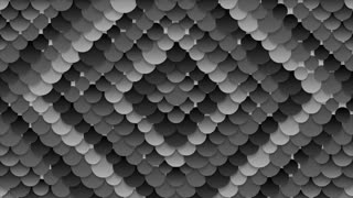 Dark grey circles pattern abstract motion background. Seamless loop. Video animation Ultra HD 4K 3840x2160