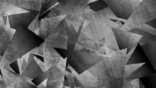 Dark grey grunge 3d polygonal tech motion background. Seamless looping. Video animation Ultra HD 4K 3840x2160