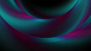Dark holographic iridescent abstract rings motion graphic design. Seamless looping. Video animation Ultra HD 4K 3840x2160
