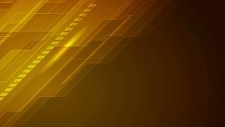 Dark orange technology futuristic motion background. Seamless loop. Video animation Ultra HD 4K 3840x2160