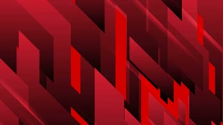 Dark red tech geometric abstract motion background. Seamless loop. Video animation Ultra HD 4K 3840x2160