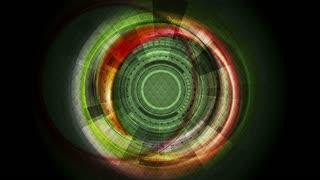 Dark shiny technology sci-fi motion graphic background. Seamless loop design. Video animation Ultra HD 4K 3840x2160