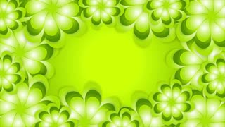 Green spring and summer abstract flowers graphic motion design. Video animation Ultra HD 4K 3840x2160
