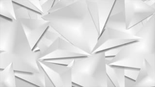 Grey 3d smooth triangles geometric polygonal motion design. Seamless loop. Video animation Ultra HD 4K 3840x2160
