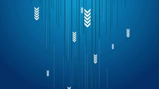 Hi-tech blue abstract animated background with arrows. Motion graphic design video clip Ultra HD 4K 3840x2160