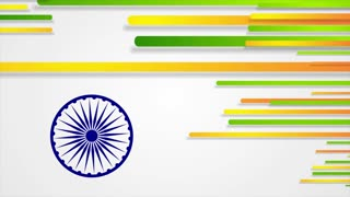 India Republic Day 26 January motion background. Seamless loop. Video animation Ultra HD 4K 3840x2160