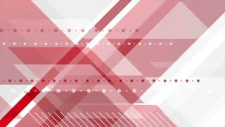 Red and grey abstract tech geometric minimal motion background. Seamless loop. Video animation Ultra HD 4K 3840x2160