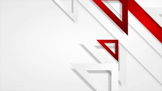 Red and grey triangles abstract geometric motion design. Seamless loop. Video animation Ultra HD 4K 3840x2160