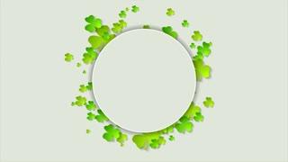St. Patricks Day green shamrock clovers motion design. Seamless looping. Video animation Ultra HD 4K 3840x2160