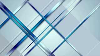 Tech abstract light blue stripes motion graphic design. Shape video animation Ultra HD 4K 3840x2160