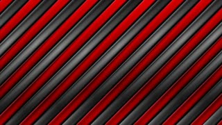 Tech black and red metallic stripes abstract motion design. Seamless loop. Video animation Ultra HD 4K 3840x2160