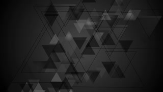 Tech black geometric motion design with triangles. Seamless looping. Video animation Ultra HD 4K 3840x2160