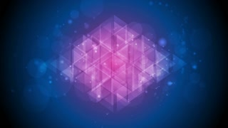 Tech polygon abstract blue purple shiny sparkling motion design. Seamless looping. Video animation Ultra HD 4K 3840x2160