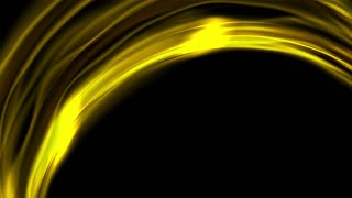 Yellow flowing electric smooth waves video clip animation. Seamless loop. Bright glowing effect motion design Ultra HD 4K 3840x2160