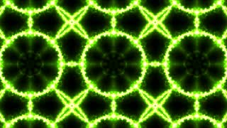 Green Neon Kaleidoscope Background