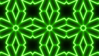 Green Neon Kaleidoscope