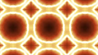 Orange Neon Kaleidoscope Background