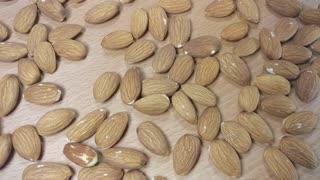 Falling Almonds In Slow Motion