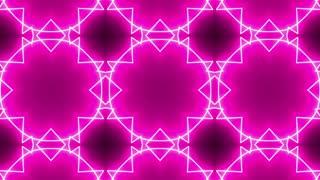 Pink Neon Kaleidoscope Background