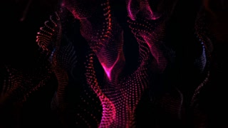 Red Particles Background