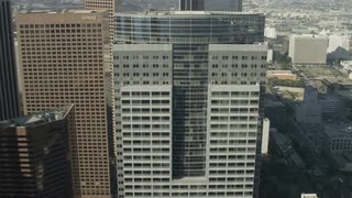 4K Aerial Flying Over Los Angeles Skyscrapers