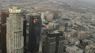 4K Aerial Following Coast Guard Helicopter over Los Angeles